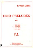 Okładka: Villa-Lobos Heitor, Preludium a-moll nr 3
