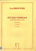 Okładka: Brouwer Leo, Etudes simples z. 1 nr 1-5