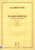 Okładka: Brouwer Leo, Etudes simples z. 2 nr 6-10