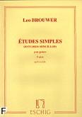Okładka: Brouwer Leo, Etudes simples z. 3 nr 11-15