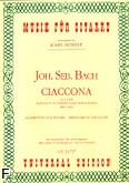 Okładka: Bach Johann Sebastian, Ciaccona z II partity na skrzypce solo BWV 1004