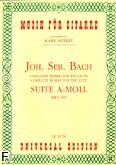 Ok�adka: Bach Johann Sebastian, Suita a-moll BWV 997 na lutni�