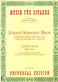 Ok�adka: Bach Johann Sebastian, Suita E-dur BWV 1006a na lutni�