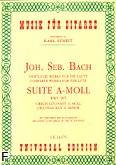 Ok�adka: Bach Johann Sebastian, Suita a-moll BWV 995 na lutni�