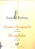 Ok�adka: Rodrigo Joaquin, Sonata a la espa�ola (1969), Dos preludios (1977) na gitar� solo