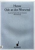 Okładka: Henze Hans Werner, Ode An Den Westwind na wiolonczelę  i orkiestrę (wyc. fort.)
