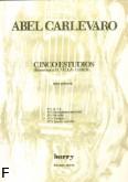 Okładka: Carlevaro Abel, 5 Etiud na gitarę - etiuda nr 4