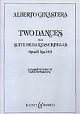 Ok�adka: Ginastera Alberto, 2 ta�ce z suity Ta�c�w kreolskich op. 15 nr 1 i 3 na gitar� solo