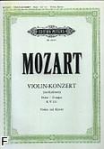 Okładka: Mozart Wolfgang Amadeusz, Koncert D-dur na skrzypce i orkiestrę, KV 211 (wyc. fort.)