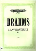 Ok�adka: Brahms Johannes, Klavierwerke III: R�ne utwory fortepianowe