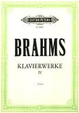 Okładka: Brahms Johannes, Klavierwerke IV: Różne utwory fortepianowe cz. 2