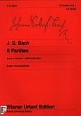 Okładka: Bach Johann Sebastian, Partity Vol.1 na fortepian BWV 825-827