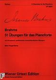 Okładka: Brahms Johannes, 51 Ćwiczeń na fortepian /Urt,/