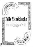 Ok�adka: Mendelssohn-Bartholdy Feliks, Barkarola wenecka, op. 30 nr 1