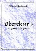 Ok�adka: Szalonek Witold, Oberek nr 3 na gitar�