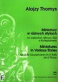 Okładka: Thomys Alojzy, Miniatury w różnych stylach