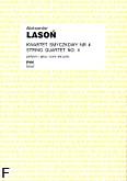 Okładka: Lasoń Aleksander, Kwartet smyczkowy nr 4 (partytura+głosy)