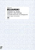 Okładka: Bujarski Zbigniew, Kwartet na jesień (partytura+głosy)