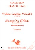 Okładka: Mozart Wolfgang Amadeusz, Konzert Nr. 1, D-Dur, K.V. 412 (Orval)