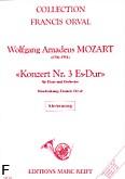 Okładka: Mozart Wolfgang Amadeusz, Konzert Nr. 3, Es-Dur, K.V. 447 (Orval)