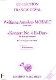 Okładka: Mozart Wolfgang Amadeusz, Konzert Nr. 4, Es-Dur, K.V. 495 (Orval)