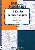 Okładka: Koetsier Jan, 13 Etudes Caractéristiques op.117