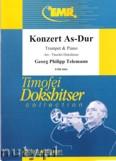 Okładka: Telemann Georg Philipp, Konzert As-Dur (partytura + głosy)