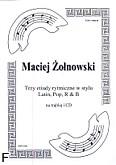 Okładka: Żołnowski Maciej, Trzy etiudy rytmiczne w stylu Latin, Pop i R & B