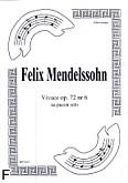 Okładka: Mendelssohn-Bartholdy Feliks, Vivace op. 72 nr 6