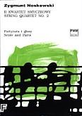 Okładka: Noskowski Zygmunt, II kwartet smyczkowy E-dur (partytura i głosy)