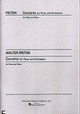 Okładka: Piston Walter, Concerto For Flute And Orchestra (Flute / Orchestra / Piano)