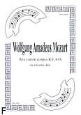 Okładka: Mozart Wolfgang Amadeusz, Ave verum corpus KV.618 (partytura + głosy)
