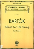 Okładka: Bartók Béla, Album for the Young for the Piano