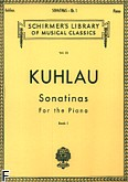 Okładka: Kuhlau Friedrich Daniel Rudolf, Sonatinas - Book 1
