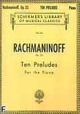 Okładka: Rachmaninow Sergiusz, 10 Preludes, Op. 23