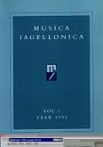 Ok�adka: Szweykowski Zygmunt Maria, Musica Iagellonica Tom 1 1995