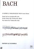 Ok�adka: Bach Johann Sebastian, Sze�� suit na wiolonczel� solo