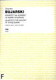 Ok�adka: Bujarski Zbigniew, Kwartet na adwent (partytura+g�osy)
