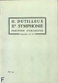 Okładka: Dutilleux Henri, II Symphonie; partytura