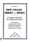 Ok�adka: Pucek Zdzis�aw, New organ sheet - music; 5 organ themes for improvisation