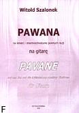 Ok�adka: Szalonek Witold, Pawana ... na gitar� N4, 6 str.