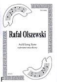 Ok�adka: Olszewski Rafa�, Auld Lang Syne na kwartet smyczkowy (partytura + g�osy)