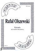Okładka: Olszewski Rafał, Kalanda na kwartet smyczkowy (partytura+głosy)