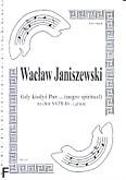 Okładka: Janiszewski Wacław, Gdy kiedyś Pan … (negro spiritual) (partytura)