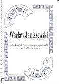 Ok�adka: Janiszewski Wac�aw, Gdy kiedy� Pan � (negro spiritual) (partytura)