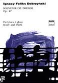 Okładka: Dobrzyński Ignacy Feliks, Souvenir de Dresde op. 47 na obój, fortepian i wiolonczelę (partytura + głosy)