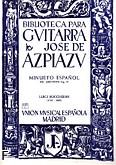 Okładka: Boccherini Luigi Rodolpho, Minueto Espanol Del Qu inteto Op.37
