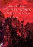 Ok�adka: Brahms Johannes, Complete Songs For Solo Voice And Piano Series II