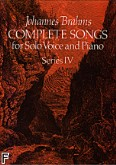 Ok�adka: Brahms Johannes, Complete Songs For Solo Voice And Piano, Series IV