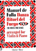 Ok�adka: Falla Manuel de, The Ritual Fire Dance For Violin and Piano